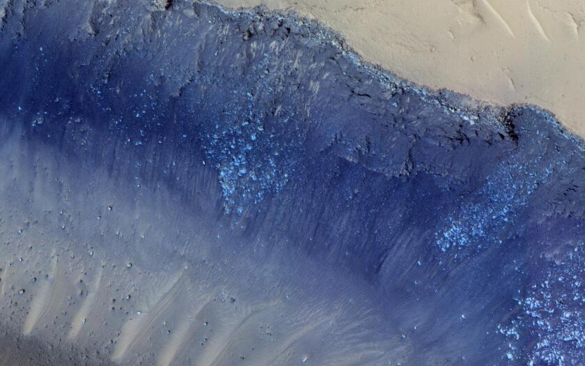A Mars landslide, as seen by NASA's Mars Reconnaissance Orbiter.