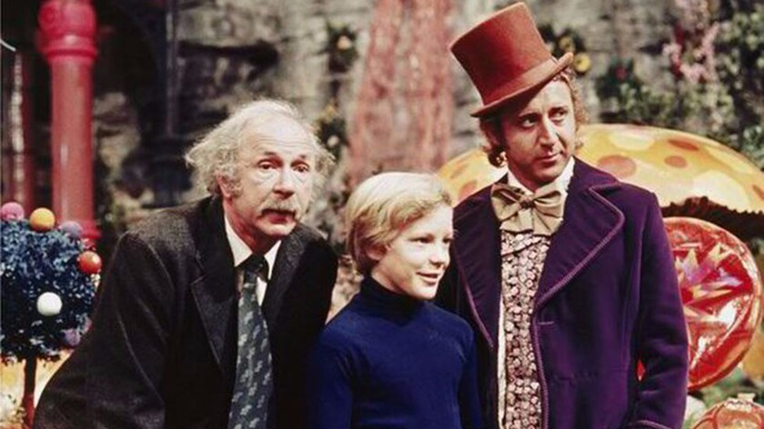 """""""Willy Wonka and the Chocolate Factory"""" stars, from left, Jack Albertson, Peter Ostrum and Gene Wilder."""