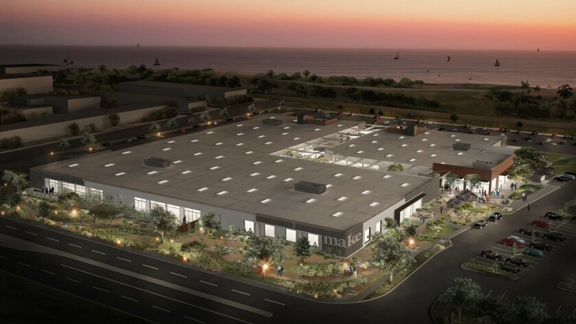 San Diego real estate firm Cruzan has remodeled the former San Diego International Floral Trade Center warehouse into an outdoor-centric office complex, with GoPro as its first tenant