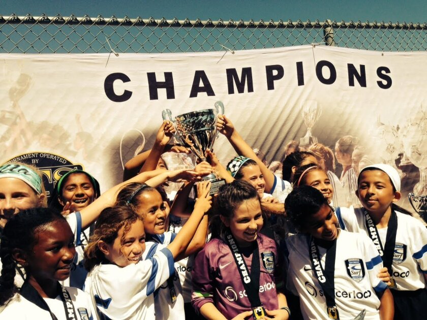 Surf Girls U11 registered their first win against the FCC Golden State team recently and were undefeated for the whole weekend. Courtesy photo