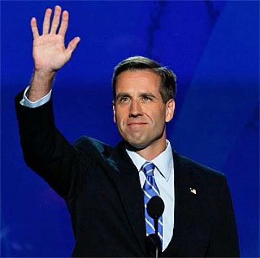 Beau Biden appears at the 2008 Democratic National Convention.