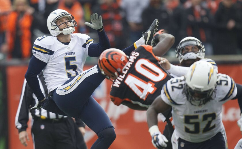 San Diego Chargers vs. Cincinnati Bengals at Paul Brown Stadium. Mike Scifres and special teams saw a lot of action in the first half.