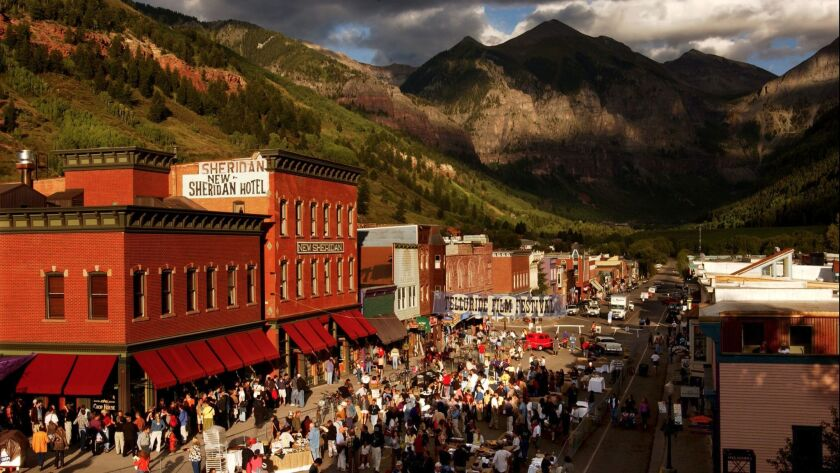 Opening day of the 28th Telluride Film Festival 2001 in Telluride, Colo. This year's festival kicks off Friday.