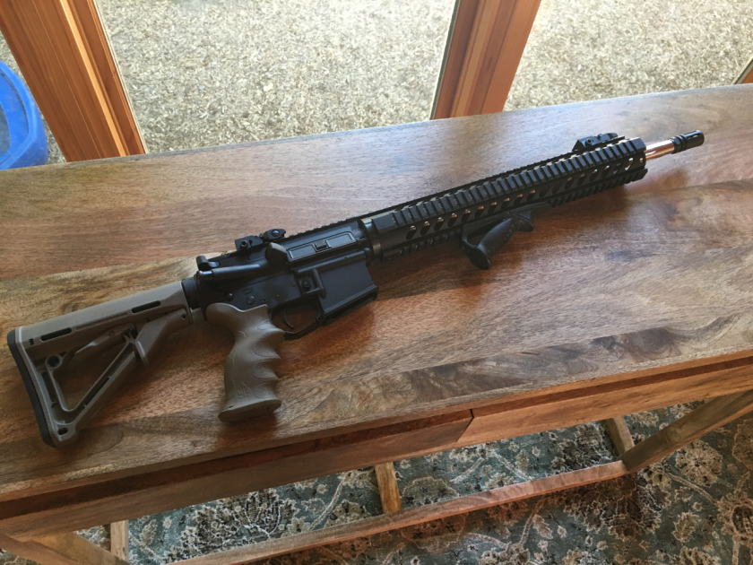 Shown is the AR-15 at the heart of a debate over gun ownership and control in Oregon.