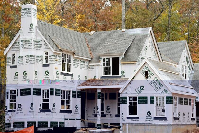 La venta de casas nuevas en el país aumentó un 5,2 % en noviembre, tras el descenso del 1,9 % de octubre, informó hoy el Departamento de Comercio del país norteamericano. EFE/ARCHIVO