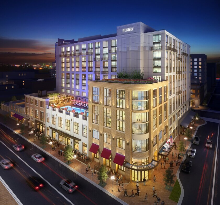 Pendry San Diego will be located at Fifth Avenue and J Street in the Gaslamp Quarter.