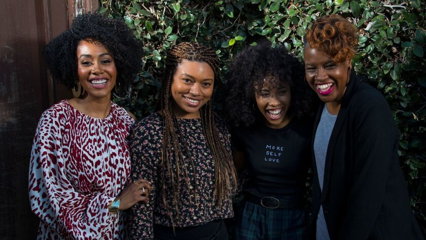"Actress Simone Missick, from left, director Nijla Mu'min, actress Zoe Renee and producer Avril Z. Speaks are all part of the new movie ""Jinn,"" which is competing in the SXSW Film Festival."