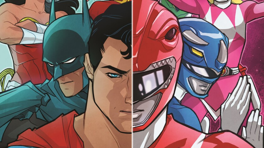 The Justice League and Power Rangers