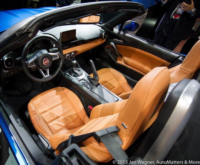 Interior of Fiat 124 Spider