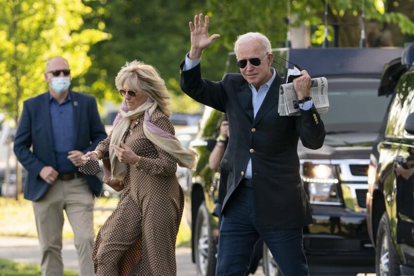 El presidente Joe Biden y la primera dama Jill Biden en Washington