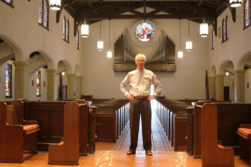 John Norris of St. James by-the-Sea Episcopal Church received Save Our Heritage Organisation's Divine Restoration Award for overseeing a $900,000 restoration of the church built by Louis Gill, nephew of master architect Irving Gill.