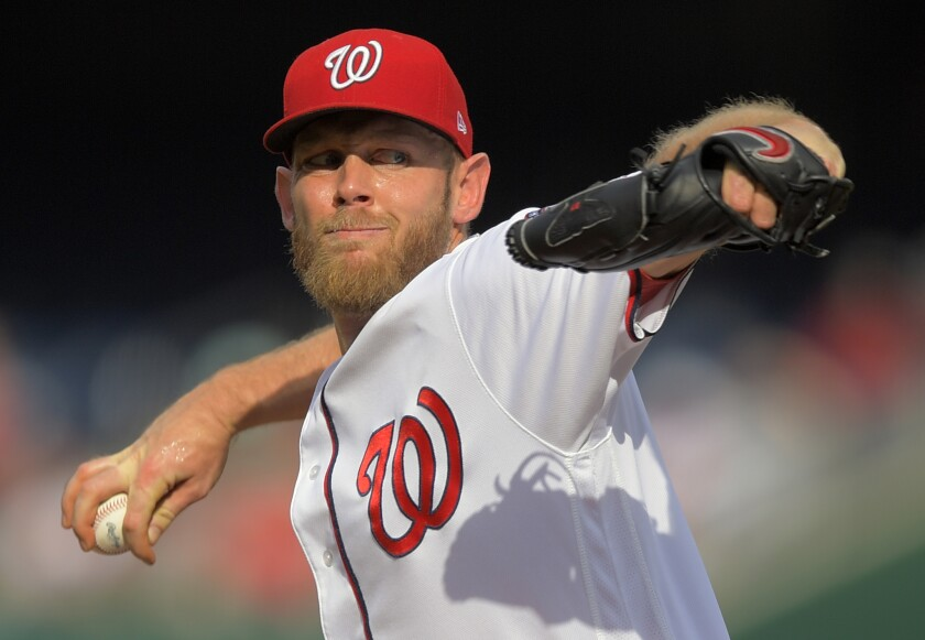 Stephen Strasburg has been with the Washington Nationals since 2009, when they selected him from San Diego State with the first overall pick in the draft.
