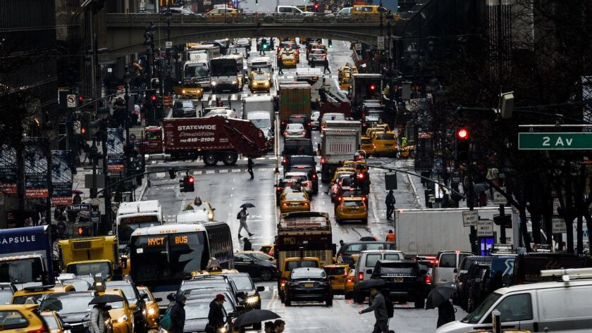 New York Congestion Pricing Plan, USA - 23 Jan 2018