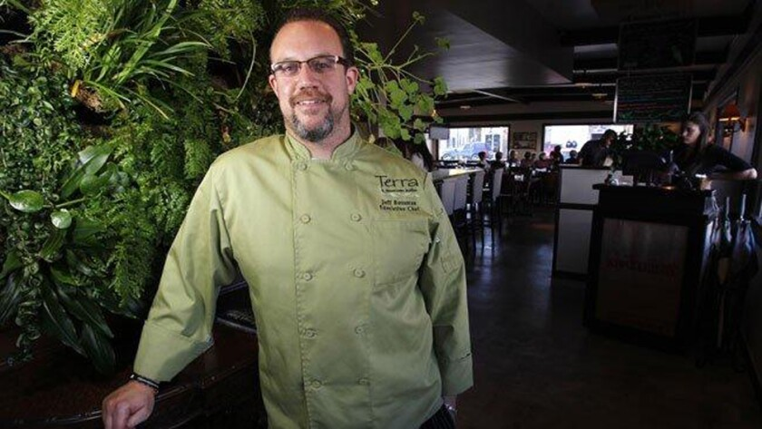 San Diego restaurateur Jeff Rossman at his Terra American Bistro