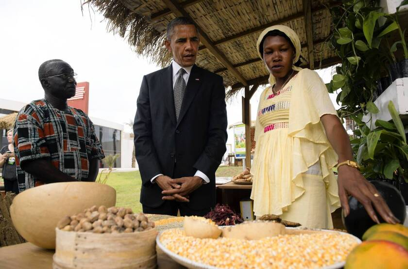 Obama touts G-8 plan to reduce hunger in Africa