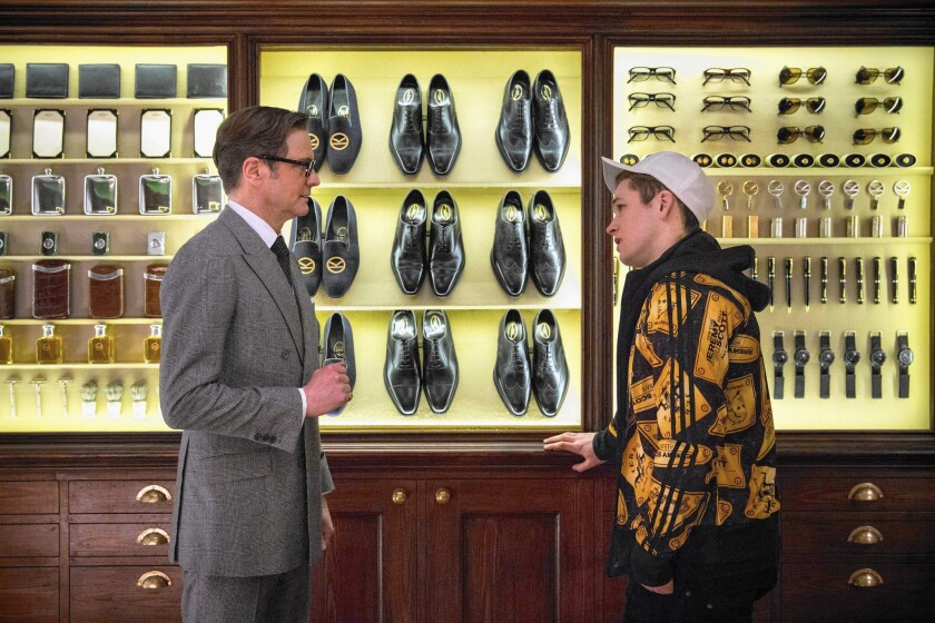"Colin Firth and Taron Egerton in ""Kingsman: The Secret Service"""