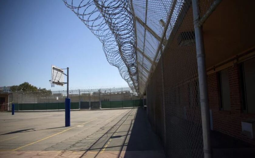 The recreation area at the Juvenile Detention Facility in Kearny Mesa.
