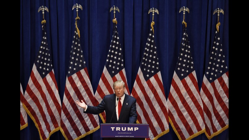 """""""The U.S. has become a dumping ground for everybody else's problems,"""" said Donald Trump on Tuesday."""