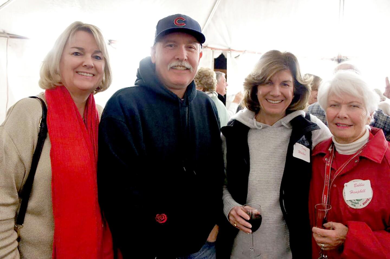 Joining the fun at the LCFTRA donor party are, from left, Alison Davitt, Jeff Hemphill, La Cañada Flintridge Mayor Terry Walker and Bobbie Hemphill.