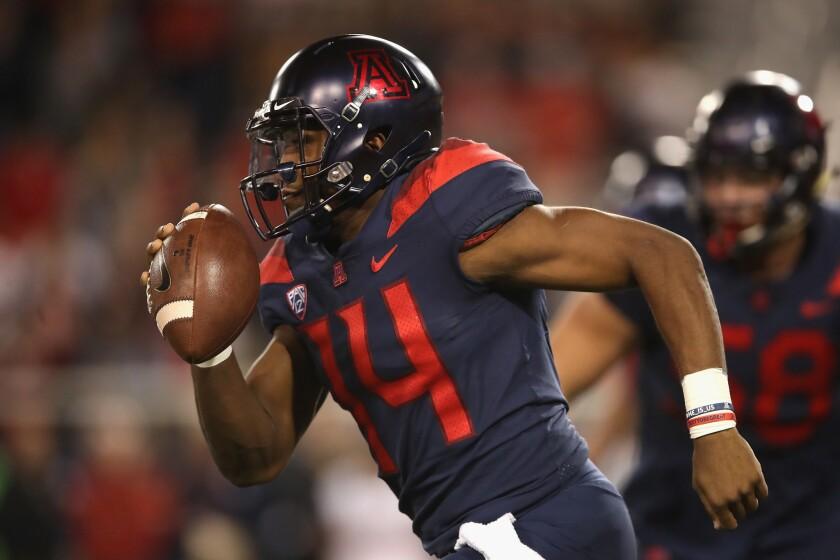 Arizona quarterback Khalil Tate