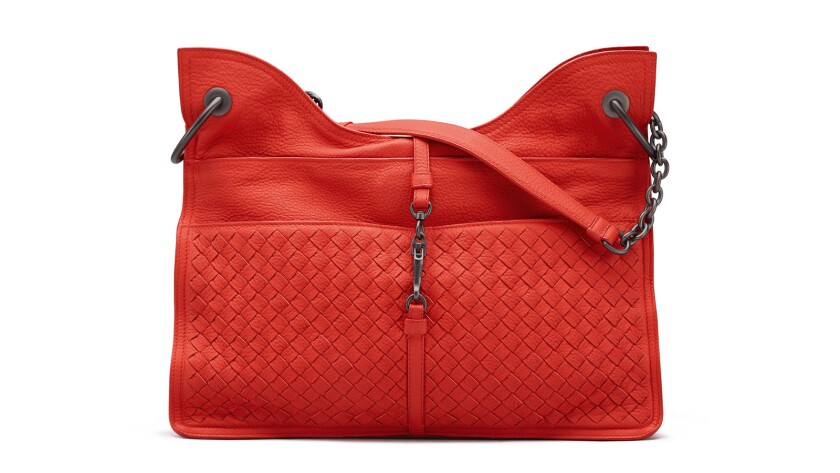 A Beverly '71/'16 handbag in deerskin ($3,800), one of the fabrications exc