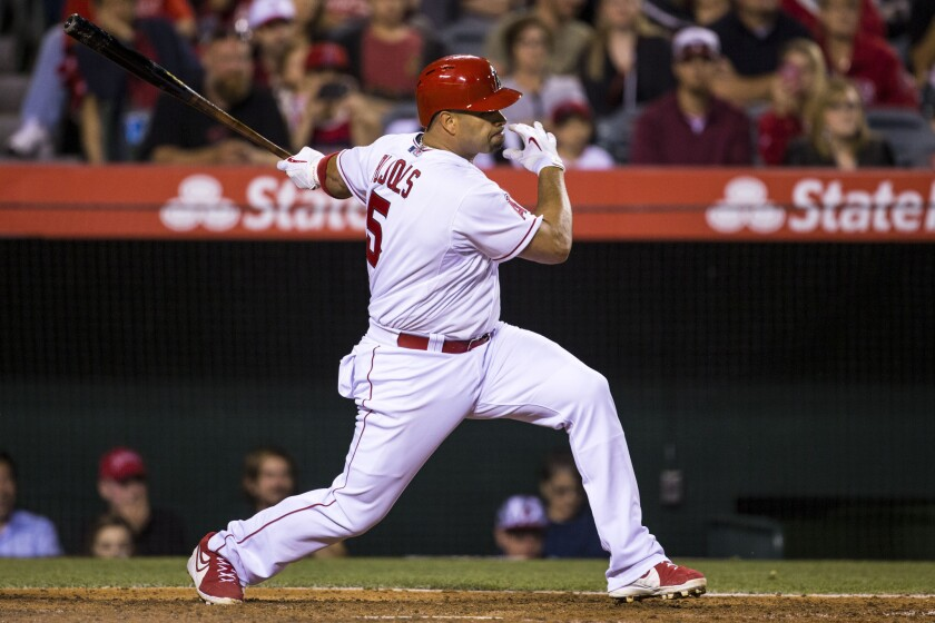 The Angels' Albert Pujols is ready to put his best foot forward after surgery
