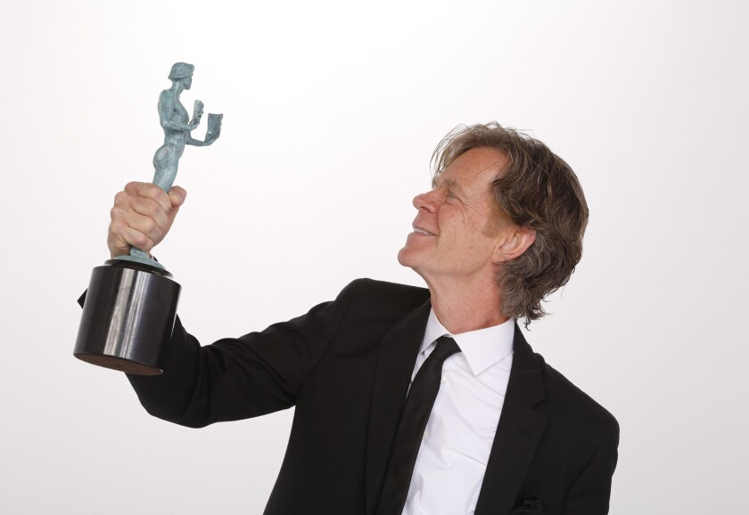 William H. Macy with the SAG Award for performance by a male actor in a comedy series.