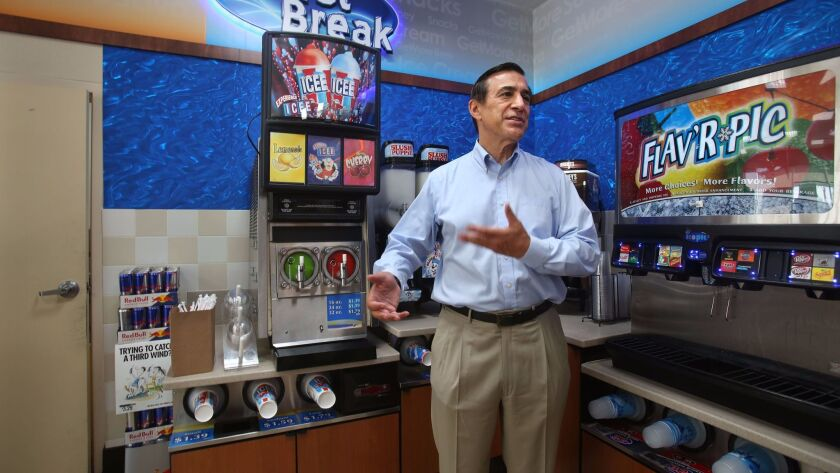 Rep. Darrell Issa, R-Vista, toured G&M Oil gas station in Oceanside in August.
