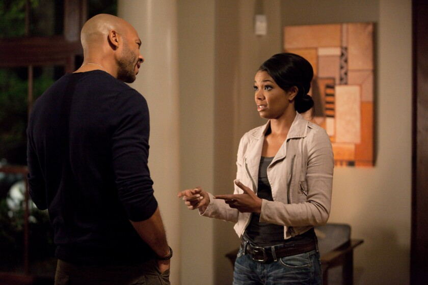 """Stephen Bishop and Gabrielle Union appear in a scene from BET Networks' """"Being Mary Jane,"""" which relocated to California from Georgia after qualifying for a state film tax credit."""