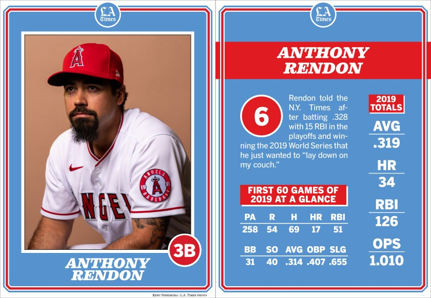 Angels third baseman Anthony Rendon.