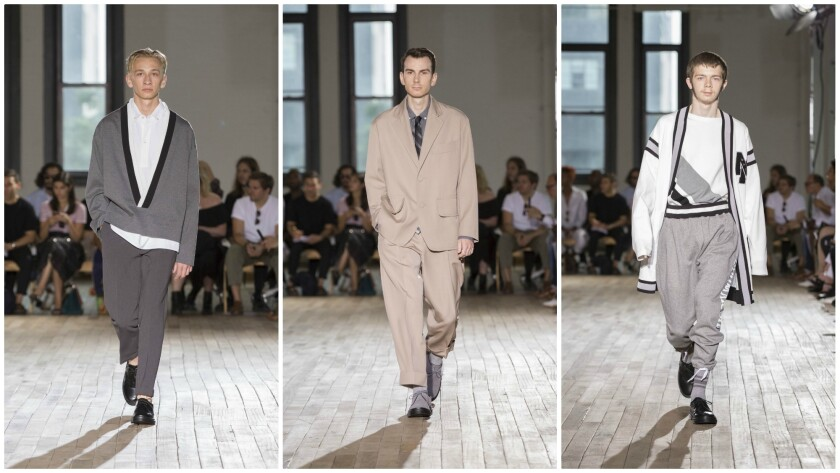 N. Hoolywood's spring/summer 2018 menswear collection was on-trend with its relaxed, baggy silhouett