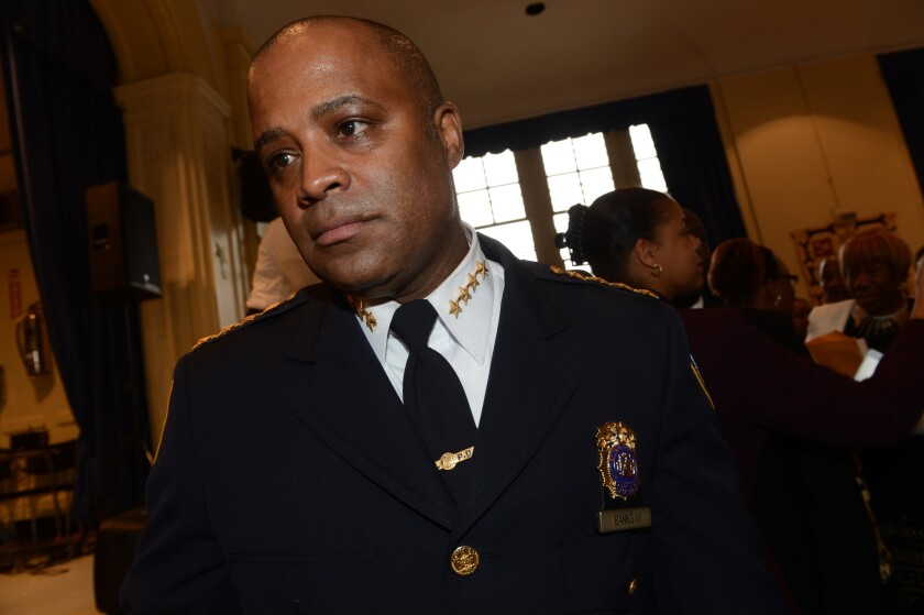 Former Chief of Department Philip Banks III at Brooklyn Community Church in November 2013.