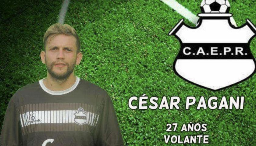César Pagani, el futbolista agresor identificado.