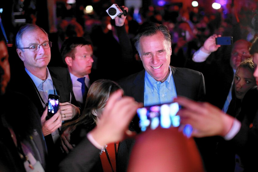 At a Republican National Committee dinner in San Diego, former Massachusetts Gov. Mitt Romney suggested that a third presidential campaign on his part would carry new focus on poverty and income inequality.
