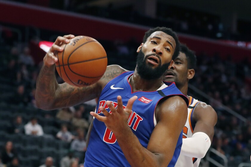 Detroit Pistons' Luke Kennard starts. He should remain there  |Andre Drummond Pistons Dunk