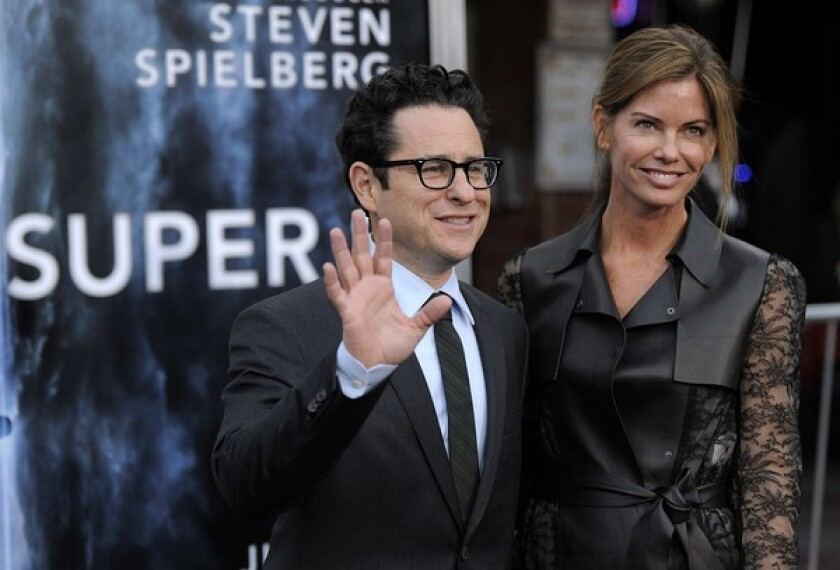 Director J.J. Abrams and his wife Katie McGrath.
