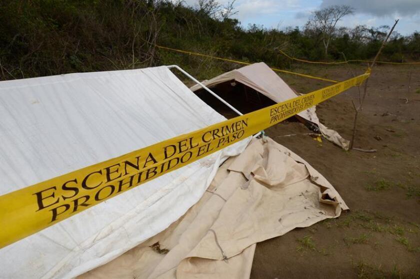 Vista general del área en la que se encontraron varios cuerpos desmembrados en el estado de Veracruz. EFE/Archivo