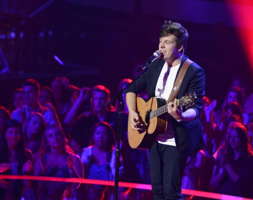 "Alex Preston performs during ""American Idol"" Rush Week."