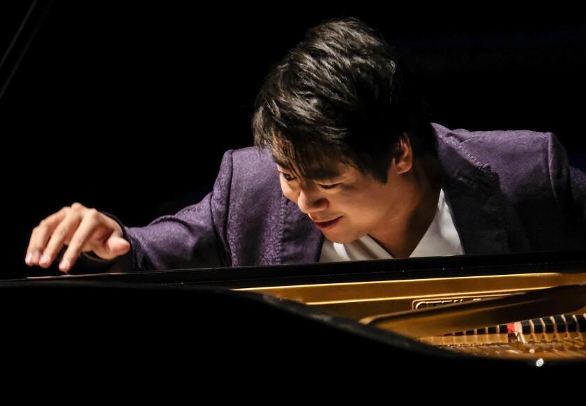 Pianist Lang Lang performs recital at Walt Disney Concert Hall