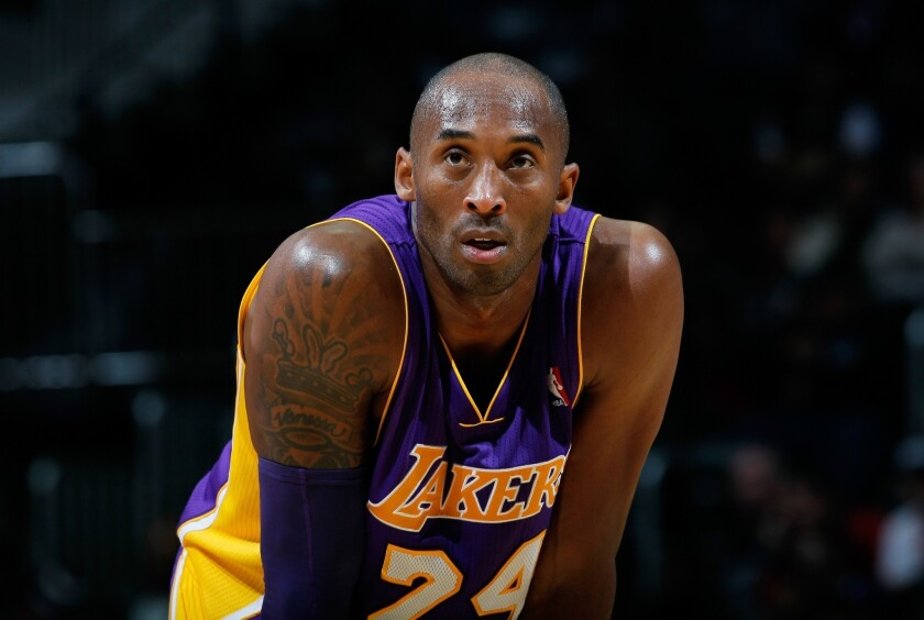 Kobe Bryant looks on during a game.