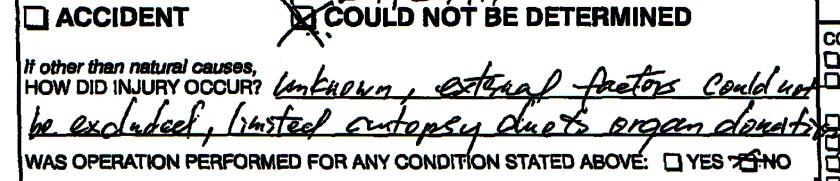 Internal coroner report
