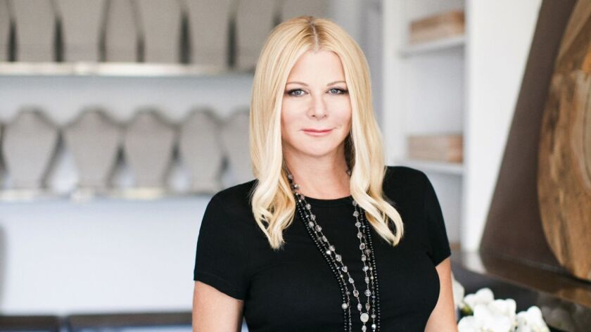 Jewelry designer Sheryl Lowe in her West Los Angeles studio.