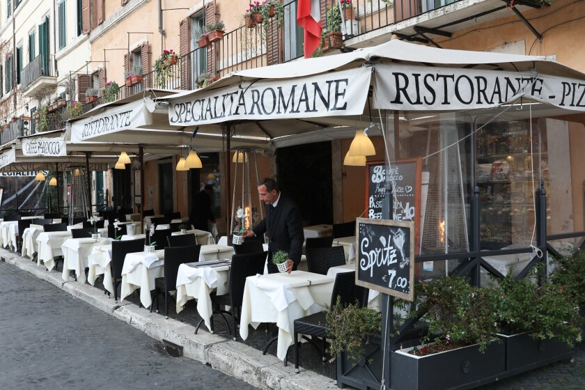 A restaurant in Rome.