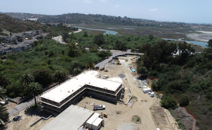 Construction of the new operations and administration building at the San Elijo Water Campus.