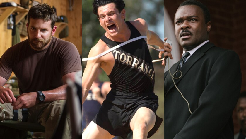 """""""American Sniper,"""" """"Unbroken"""" and """"Selma"""" are among the Oscar hopefuls that opened on Christmas."""