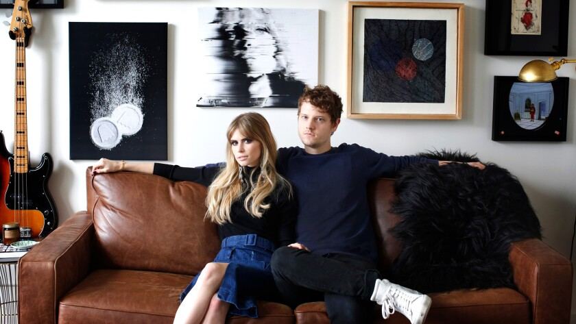 "MTV's ""Scream"" star Carlson Young, 25, shares her DTLA loft with her fiancé, Isom Innis of the indie pop band Foster the People."