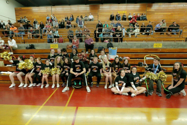 TPHS Sparkle cheerleading squad