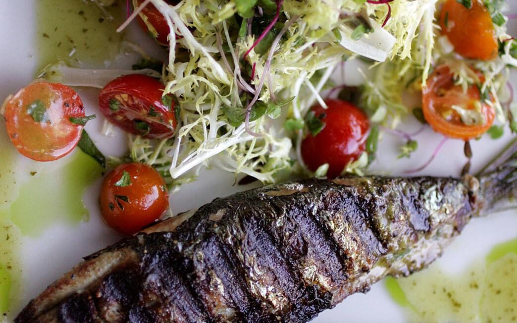 Monterey Bay sardines with frisee salad