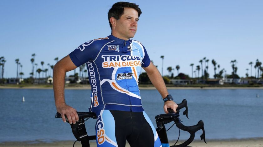 Chris Costales has completed 70 to 80 triathlons, including two full Ironmans.
