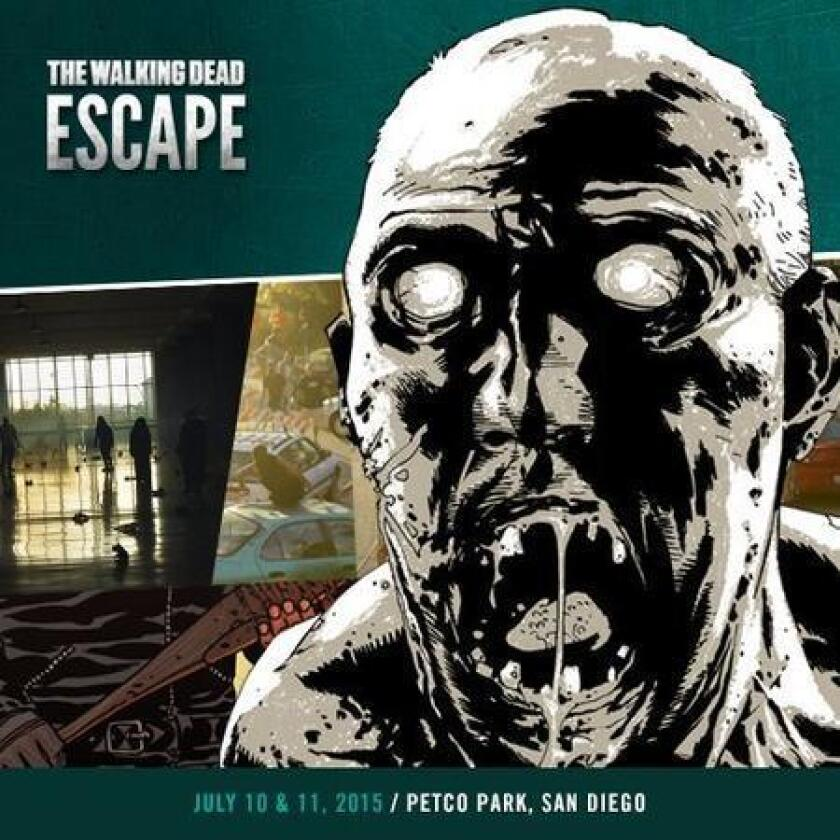 The Walking Dead Escape lets you climb, crawl, hide and slide your way through an obstacle course guarded by some unusual creatures. (/ The Walking Dead Escape)